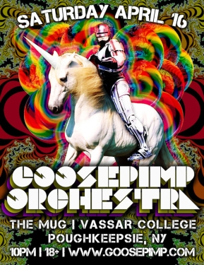 Goosepimp: Boston Funkliciousness April 16th at Vassar College's The Mug