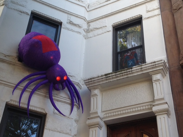 Happy Halloween from Spiderman's Brooklyn abode.